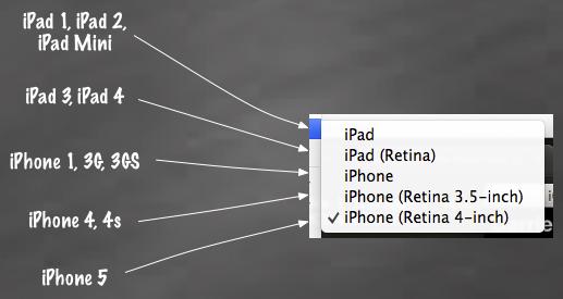iOS Simulator Hardware > Device menu